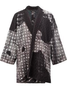 свободная куртка с абстрактным принтом Homme Plissé Issey Miyake