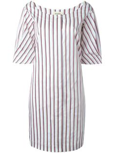 scoop neck striped dress Isa Arfen