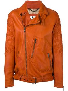 байкерская куртка с вышивкой Pihakapi