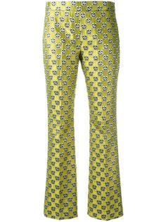 floral jacquard trousers  Giamba