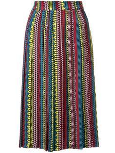 плиссированная юбка с узором  Holly Fulton