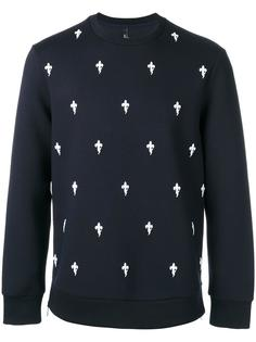 fleur-de-lis embroidered sweatshirt Neil Barrett