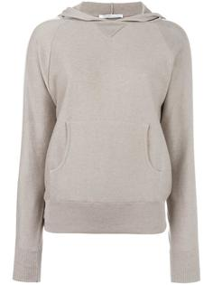 contrast trimmed hooded sweatshirt  Agnona