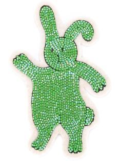 заплатка в виде кролика из бусин Olympia Le-Tan