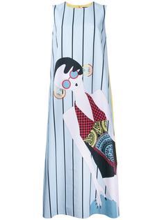 платье шифт в полоску  Holly Fulton
