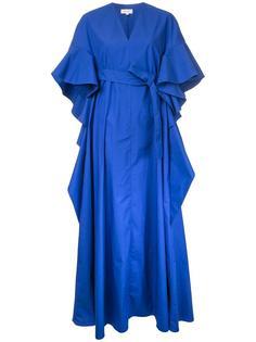 расклешенное платье с короткими рукавами  Delpozo