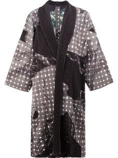 пальто в стиле кимоно Homme Plissé Issey Miyake