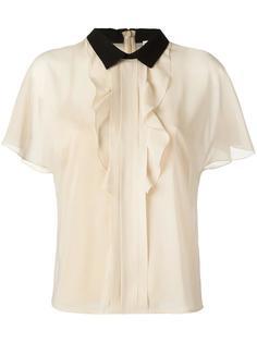 блузка с контрастным воротником Red Valentino