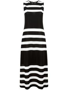 stripes fitted dress Calvin Klein Collection