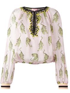 блузка с принтом тигров Giamba
