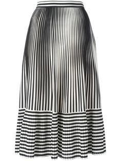 плиссированная юбка в полоску Marco De Vincenzo