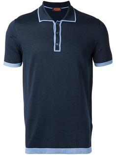 футболка-поло с контрастной отделкой Tods