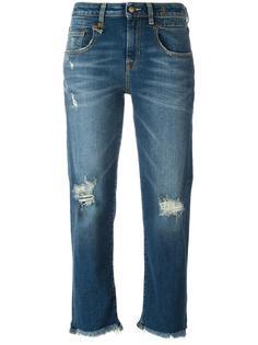 укороченные джинсы с необработанными краями R13
