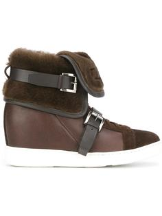concealed wedge ankle boots Santoni