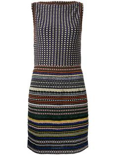 boatneck striped fitted dress Missoni