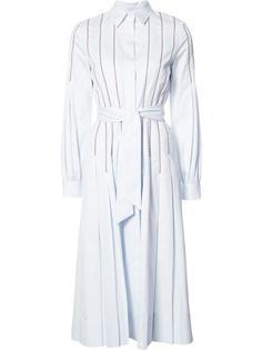 плиссированное платье-рубашка Gabriela Hearst