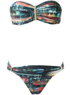 printed bandeau bikini set Lygia & Nanny