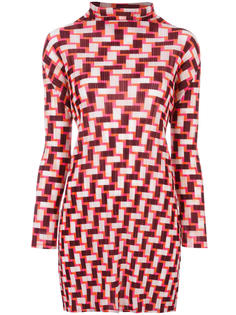 geometric print long blouse  Pleats Please By Issey Miyake