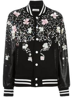куртка бомбер с цветочным принтом Night Market