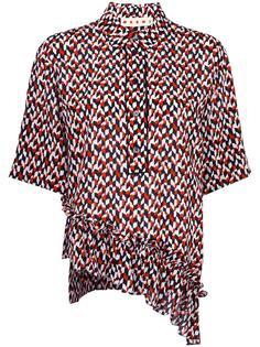 асимметричная блузка с геометрическим принтом Marni