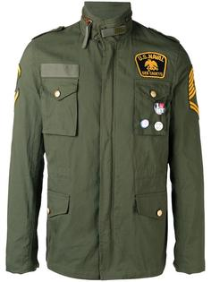 куртка-бомбер с нашивками History Repeats
