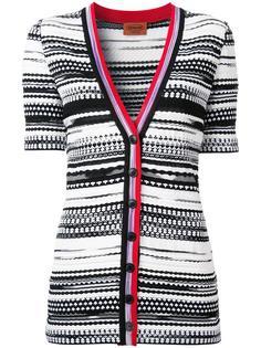 V-neck striped shortsleeved cardigan Missoni