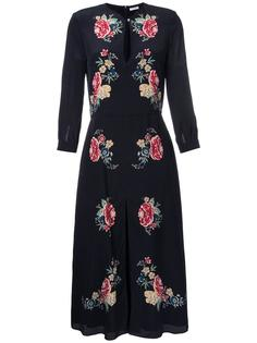 silk floral print dress Vilshenko