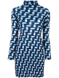 goemtric print long blouse  Pleats Please By Issey Miyake