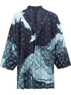 abstract print open jacket Homme Plissé Issey Miyake