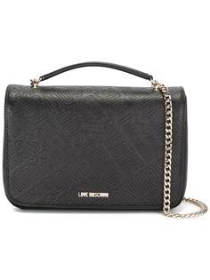 сумка на плечо с тисненым логотипом Love Moschino