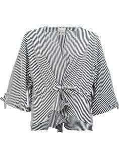 striped wide sleeve blouse Maison Rabih Kayrouz