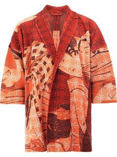 geisha print open jacket Homme Plissé Issey Miyake