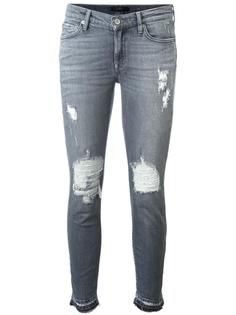 distressed skinny jeans  7 For All Mankind