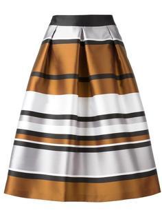 metallic A-line skirt Blugirl
