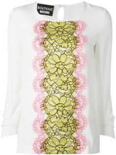 блузка с кружевной панелью Boutique Moschino
