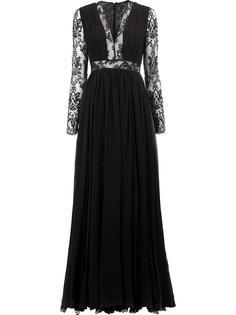 lace insert gown Zuhair Murad