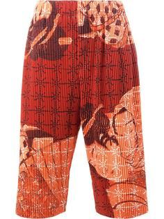 geisha print shorts Homme Plissé Issey Miyake