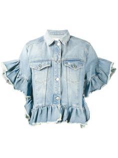 джинсовая куртка с оборками MSGM