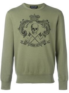 skull crest print sweatshirt Alexander McQueen