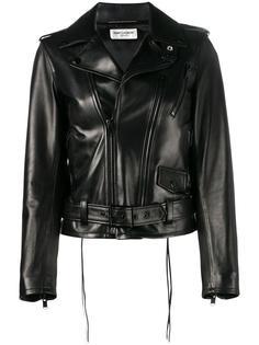 байкерская куртка L17 Saint Laurent