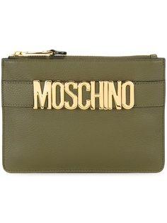 клатч с лямкой с логотипом Moschino