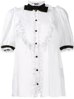блузка с галстуком-бабочкой Dolce & Gabbana