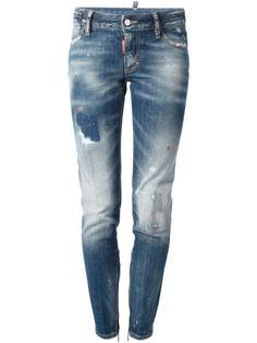 потёртые джинсы кроя скинни Dsquared2