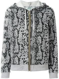 snakeskin print hoodie Kenzo
