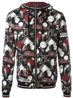 musical instrument print jacket Dolce & Gabbana