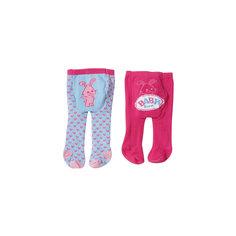 Колготки, розово-фиолетовые с собачкой, BABY born Zapf Creation