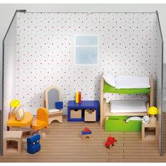 Мебель для кукольной детской с двухэтажной кроватью, goki