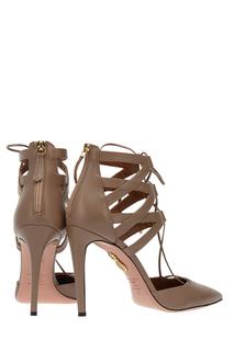 Кожаные туфли Belgravia Aquazzura