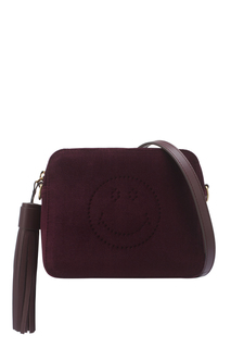 Бархатная сумка Anya Hindmarch