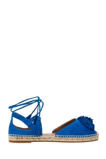 Замшевые туфли Sunshine Espadrille Flat Aquazzura
